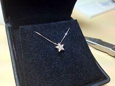 girocollo collana oro rosa 18 kt stella punto luce di diamanti naturali  0,12 ct