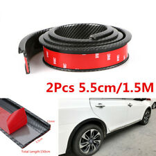 2pcs 5.5cm Carbon Fiber Look Car Fender Flare Wheel Eyebrow Trim Lips Protector