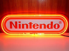 "Nintendo Red Neon Sign Display Garage Beer Bar Pub Game Room Light 24""X13""K367"