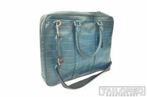 NEW - COACH Metropolitan Slim Crocodile Leather Shoulder Slim Brief Bag 25991