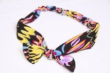 Black Magenta Pink Yellow Orange Blue Stretch Colourful Playful headband (S46)1