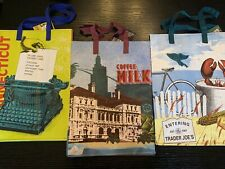"""Trader Joe's """"The New England Colonies"""" reusable Shopping grocery ECO 3 Bags NWT"""