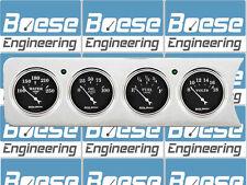 41 42 46 47 48 Chevy Car 4 Dash Panel Insert w/ Auto Meter Old Tyme Black Gauges