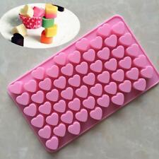 55 Holes Cupcake Bake Decor Mold Mould Silicone Heart Shaped Cake Chocolate