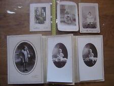 Lot PHOTO portrait d'enfants dont JP de Sury d Aspremont children baby VINTAGE