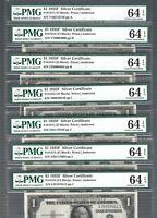 US Silver Certificate 1935F $1 X 1 ✨ Fr#1615 ✨ PMG 64 EPQ #84553