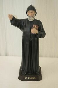 27 Inches Saint Charbel Resin Holy Figurine Religion