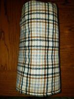 Pendleton Wool Tartan / Plaid Barrel / Cylinder Style - Beige/Tan/Brown/Gray/Blk