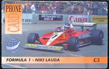 INTERNATIONAL PHONE CARD - Formula 1 - Niki Lauda £3 - New & Unused