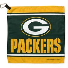 """Green Bay Packers 13""""x13"""" Golf Waffle Towel Authentic NFL Hologram NWT"""