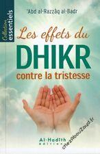 Les Effets Du Dhikr Contre La Tristesse livre islam - NEUF
