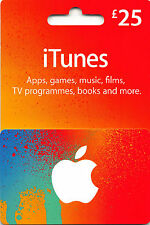 25 GBP UK Apple iTunes Gift Card codice certificato £ 25 STERLINE UK Inglese Britannico