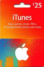 25 GBP Reino Unido Apple iTunes certificado de código de tarjeta de regalo £ 25 libra UK BRITISH INGLÉS
