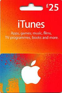 iTunes Gift Card UK £25 GBP Apple App Store Code | £25 Pound UK British English