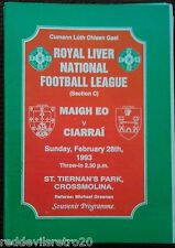 Mayo GAA vs Kerry GAA 1993 National Football League Programme