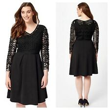 Studio 8 Plus Size 26 Simply Fab Black Avalon Party Special Occasion DRESS £160