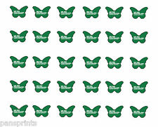 30x Macmillan Cancer Support *PRECUT* BUTTERFLY Toppers Edible coffee morning
