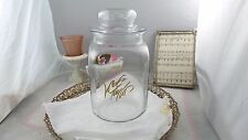 Vintage Antique Large Lord & Taylor Glass Candy Jar Shabby Rustic Farmhouse
