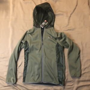 Under Armour Cold Gear Storm Hooded Zip up - Small - Olive Green - New