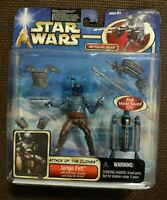 Star Wars Attack of the Clones Jango Fett Electronic Jetpack Action Figure -2002