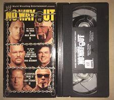 WWE - No Way Out 2003 (VHS, 2003) WWF WCW NWO RARE NON RENTAL