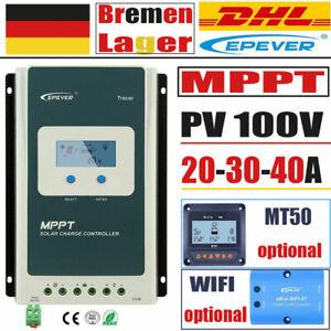 EPEVER MPPT Solar Laderegler 12V/24V Solar Photovoltaic Regler 40/30/20A PV100V