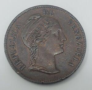 1862 Venezuela 1 Centavo Copper