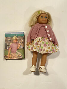 "American Girl Kit Kitridge 6.5"" mini doll With Book Original Clothes Historical"