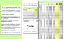 Mortgage Calculator and Mortgage Comparison Tool -- Excel Spreadsheet