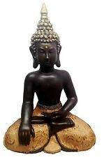 "Eastern Enlightenment Thailand Buddha Meditating Figurine Statue Large 15"" Tall"