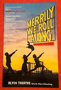 Merrily We Roll Along Window Card
