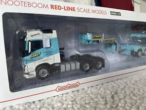 WSI NOOTEBOOM VOLVO FH4 GLOB 6x4 + LOW LOADER RED LINE 4 Axle Low 2 Axle Dolly