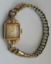 Vintage Ladies Tudor Rolex Gold Plate 17 Rubies Watch 20 Micron Lunette Plaque