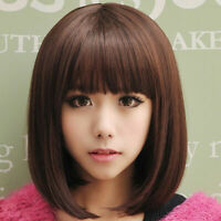 Women's Lady Short Straight Hair Full Wigs Daily/ Cosplay Party Bob Hair Wig s