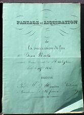Acte notarié Wiwersheim Hausen notaire, succession Jean North 1839