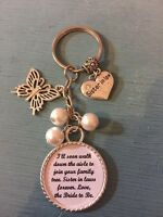 Wedding SISTER IN LAW Keyring Keepsake Favour Gift Any Colour Beads