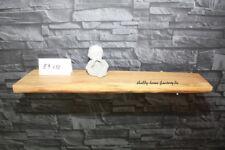 Wandbord Wandregal Eiche massiv Holz Regal Baumkante, rustikal   #137