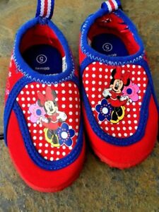 DISNEY Mickey Mouse Clubhouse MINNIE MOUSE Red Loafers Flats Girls Sz 5T  👞b5