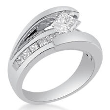 Ring W Channel Set Diamonds Tp40 Princess Cut Tension Set Diamond Engagement