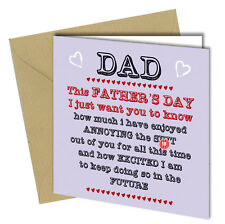 #482 This Fathers Day Card Dad Greetings Card Love You Humour Funny Rude 6X6""