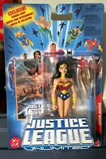 2005 Justice League Unlimited WONDER WOMAN (Blue Card) MOC