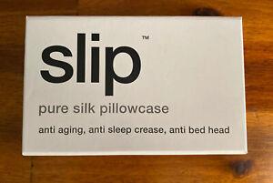 Slip Pure Silk Pillowcase Color White Queen 20+30 / 51 CM