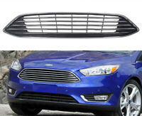 Front Upper Center Grille Chrome Titanium Replacement For 2015-2018 Ford Focus