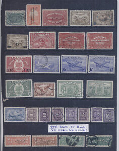Canada Back of Book OLD COLLECTION LOT High CV Lot #888