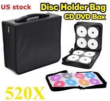 520 Disc CD DVD Album Storage Bag Organizer Holder Media Carrying Case Black USA