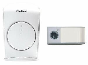 Honeywell Friedland Evo+ 150m Wireless Portable White Doorbell Kit (D3001) NEW