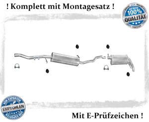 Auspuffanlage für Ford Galaxy Seat Alhambra VW Sharan 1.9 2.0 TDI Montagesatz