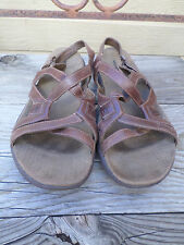 0272ad1d660e Merrell Agave Brown Leather Strappy Sandals Women s 9