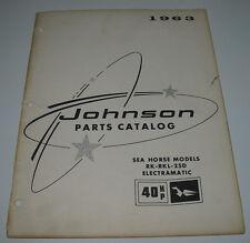 Parts Catalog Johnson Sea Horse Models RK RKL 25 D Electramatic 40 HP Stand 1963