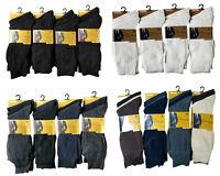 3/6/12 PAIRS MENS 100% COTTON ANTI-BACTERIAL SOCKS 6-11 LOT NEW